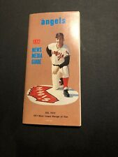 1972 California Angels Baseball Roster News Media Guide Del Rice Cover