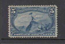 #288 5c Fremont (Mint HINGED) cv$90.00