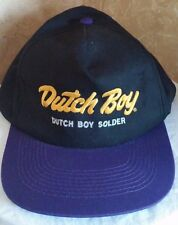 Dutch Boy Solder Embroidered Snapback by KC Baseball Cap Hat Purple Black Gold