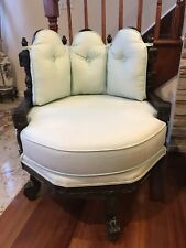 Beautiful Antique Swivel/Accent Chair For Your Office or Library Desk Chair.