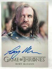 Game of Thrones Season 3 Autograph Card - RORY McCANN - SANDOR CLEGANE The HOUND