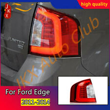 Red Lens LED Tail Brake Lights Assembly LED Tail Lamps k For Ford Edge 2011-2014