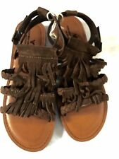 American Eagle Outfitter fringe boho Sandals  8 fringe flat shoe free people