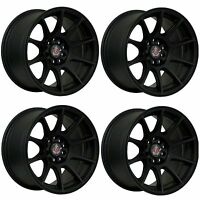 "4 x AXE EX8 Matt Black Alloy Wheels - 15x8"" | 4x108 | ET30 | 73.1mm Centre Bore"