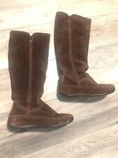 M FitFlop Tall Leather Superboot Chocolate Brown Knee High Boots Women's 7