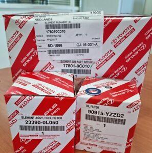 Toyota Hilux 1KD KUN26 Diesel Genuine Service Kit - OIL, AIR, FUEL FILTER