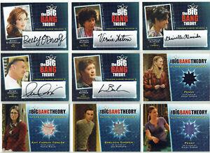 The Big Bang Theory Season 5  2013 Autograph & Wardrobe Costume Card Selection