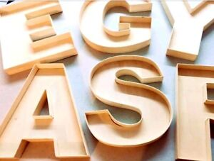 22 cm Handmade Wooden Fillable Letters & Numbers