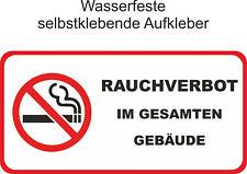 Nicht Rauchen Gebäude Aufkleber Verboten Rauchverbot Nichtraucher ab 10x5cm