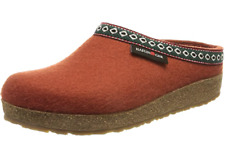 HAFLINGER GZL Grizzly Franzl Terracotta  arch support wool Slipper US 7  EU 38