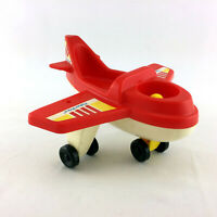 Fisher Price Airplane Chunky Little People Red And White Toy Plane Vintage 1990