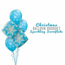 Party Supplies Christmas Winter Frozen Sparkling Snowflake Foil Balloons