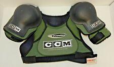 New Nos Ccm Msp220 Powerline Hockey Shoulder Pads ~ Green ~ Size: Men'S Large