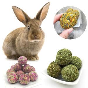 2Pcs Pet Rabbit Teeth Chew Grinding Natural Grass Ball Hamster Toys