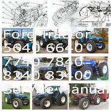 Ford Tractor 5640 6640 7740 7840 8240 8340 Service Manual Workshop Repair PDF CD