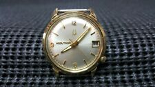 Vintage 1971 14k Gold Filled Bulova Accutron Date Tuning Fork 2181 Mens Watch