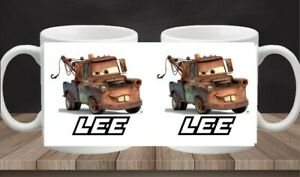 Mater Mug From Disney Cars With Name Custom Personalised Cup Tow Truck