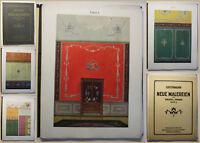 Grohmann Neue Malereien für Decke und Wand Serie X um 1920 Kunst Artdeko sf