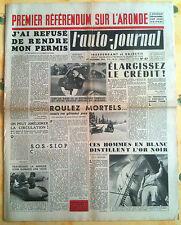 L'AUTO-JOURNAL n°67 du 12/1952; Référendum Aronde/ La Panaméricaine/Volvo Pv 444