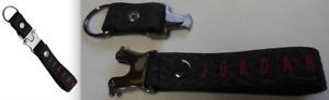 Nike Men Jordan Luxe Lanyard Detachable Clip For ID or keys Black/University Red