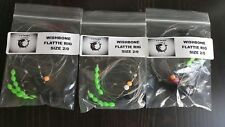 3 x clip-down Wishbone rigs Size 2/0 Aberdeen hook with lumi beads for plaice