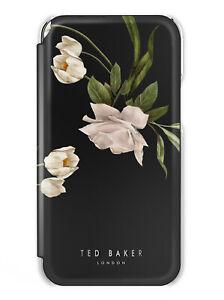 Ted Baker Genuine Luxury Floral Mirror Case for Galaxy S21 - Elderflower - Black