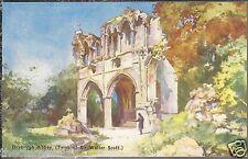 Dryburgh Abbey JAMES R.S.W.DOUGLAS  Tomb Walter Scott Old Unposted Postcard