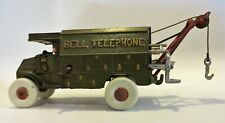 VINTAGE CAST IRON HUBLEY? MACK? BELL TELEPHONE TRUCK WITH ACCESSORIES