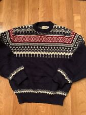 "Vintage L.L.Bean Boys L Wool Nordic Crew Neck Sweater Christmas  40"" Women"