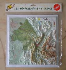 Carte en Relief, L'Isère, 38, Géorelief, Départements