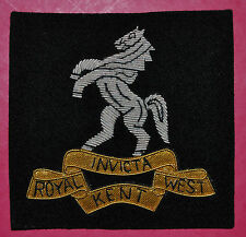 Royal West Kent Regiment regimental bullion wire blazer badge