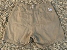 GUY HARVEY Classic Collection Men's Khaki Flat Front Chino Shorts - Size 32