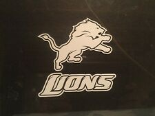 DETROIT LIONS 5 x 5 White Car Decal Sticker