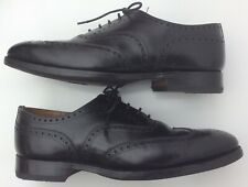 Churchs England Custom Grade 80G Uk8 Black Vintage Full Winged Tip Brogues