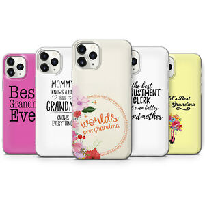BEST GRANDMA GRANNY GRANDMOTHER PHONE CASES & COVERS FOR IPHONE 5 6 7 8 X 11 SE