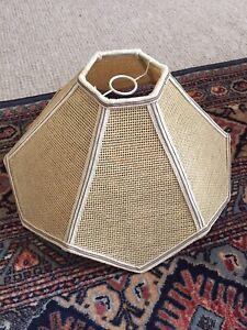 Vintage Retro Boho Rattan Wicker Woven Lamp Light Shade Hexagon