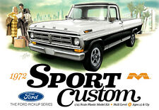 Moebius Models 1:25 1972 Sport Custom Ford Pickup Plastic Model Kit 1220 MOE1220