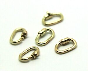 Kaedesigns, 9ct Yellow Gold 375 Or Sterling Silver 925 Link Lock Locks 5 Units