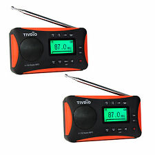 2x Portable DSP FM MW SW Radio World Receiver MP3 Player Sleep Timer Alarm Clock
