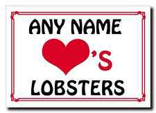 Love Heart Lobsters Personalised Jumbo Magnet
