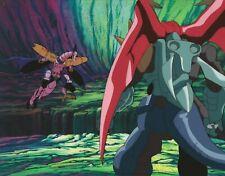 Megatron in Battle: Transformers Original 4-Piece TV Anime Production Cel Set Up