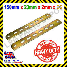 METAL STRIP 150mm x 20mm x 2mm Perforated Mounting Bracket CLASSIC CAR D6 holes