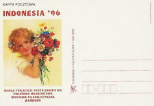 Poland postcard - World Philathelic Youth Exhibition INDONESIA '96