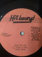 "Little John-Pray To Jah 10"" Vinyl Single 1983 ROOTS REGGAE"