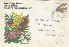Stamp Australia 20c bird on 1979 Tidal River Wilson's Promontory tourism cover