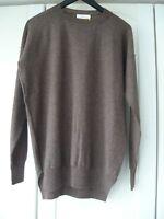 MANOSTORTI Pullover braun Gr. 46 (S) merino wool brown allsaints oversized Italy