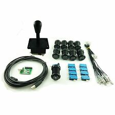 Kit Joystick Arcade 1 player Pear Buttons Americans Hollow Black Mame USB