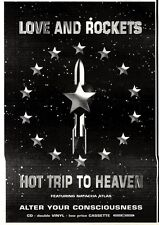 """NEWSPAPER CLIPPING/ADVERT 1/10/94PGN38 10X7"""" LOVE AND ROCKETS : HOT TRIP TO HEAV"""