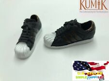 1/6 KUMIK woman shoes Adidas style black red color sneaker hot toys ❶US seller❶