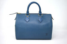 Louis Vuitton Speedy 25 Blue Epi Leather Satchel *U.S. SELLER*